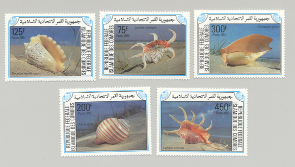 Comoro Islands (1985)- Shells #609-13
