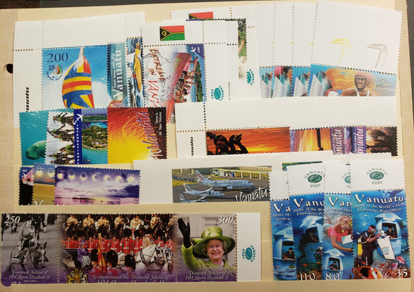VANUATU (2014-25) 9  Issues Sports , Sailing , Scenery and Others OUR ORIGINAL RETAIL $$87