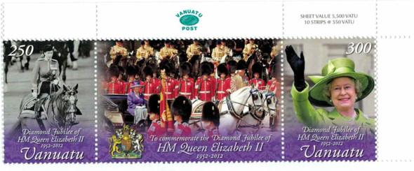 VANUATU (2012)- HMQ Elizabeth II Diamond Jubilee (2v)