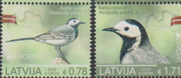 LATVIA (2019)- EUROPA- National Birds (2v)