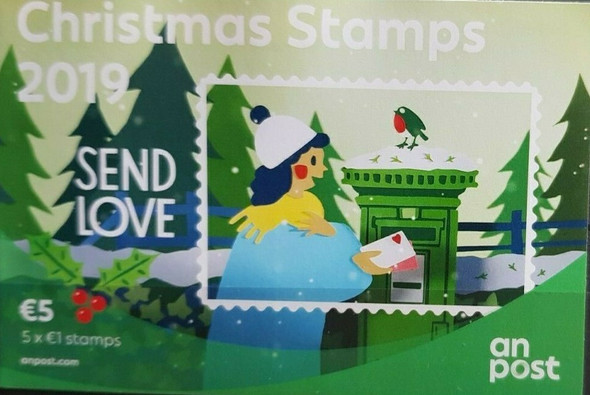 IRELAND (2019)- Christmas Booklet (5 adhesive stamps)