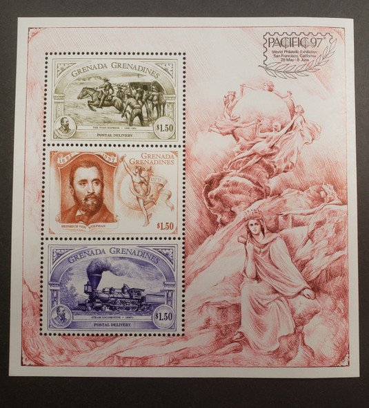GRENADA GRENADINES (1997) Pacific Exhibition Stamp On Stamp Sheet