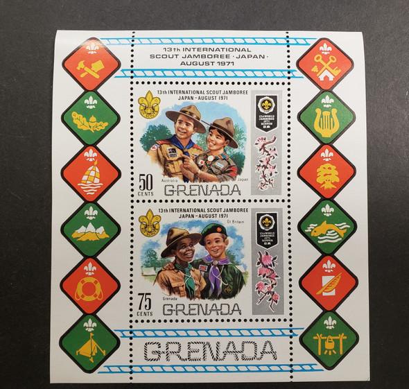 GRENADA (1971) Boy Scouts Jamboree Sheet