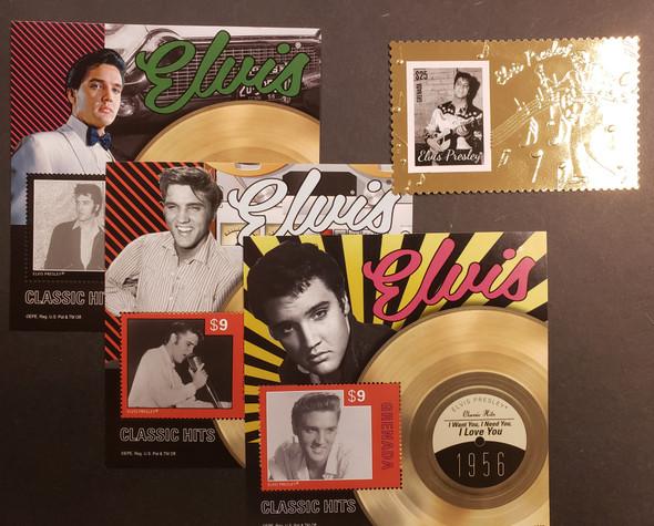 GRENADA (2014) ELVIS PRESLEY SS SET PLUS Gold Foil Single  LAST ONES