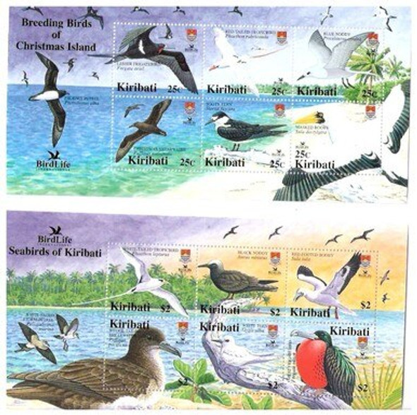 KIRIBATI (2005)- BIRDLIFE INTERNATIONAL- Colorful 2 SHEETS OF 6 VALUES