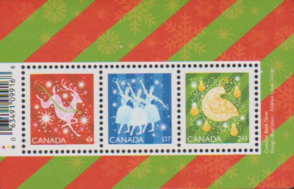 CANADA (2019)- CHRISTMAS SHEET OF 3v