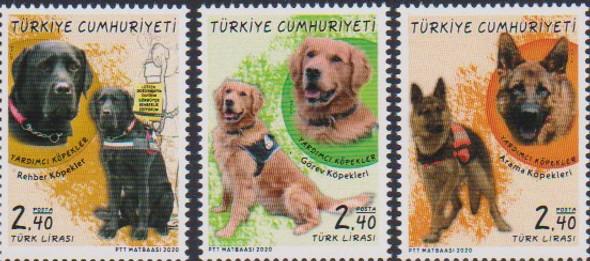 TURKEY (2020)- SERVICE DOGS (3v)
