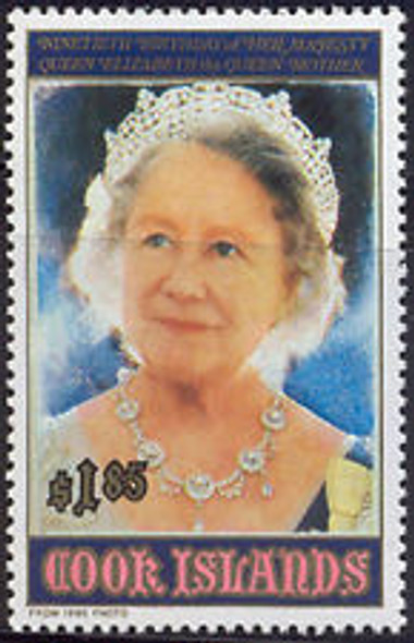 COOK ISLAND (1990) Queen Elizabeth 90th Birthday (1v)