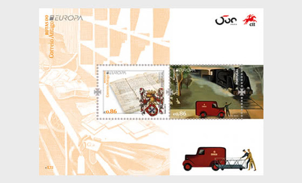 PORTUGAL (2020)- ANCIENT POSTAL ROUTES SHEET (EUROPA)
