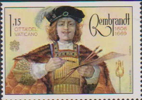 VATICAN CITY (2020)- REMBRANDT- 350TH ANNIVERSARY  (1V & SHEET)
