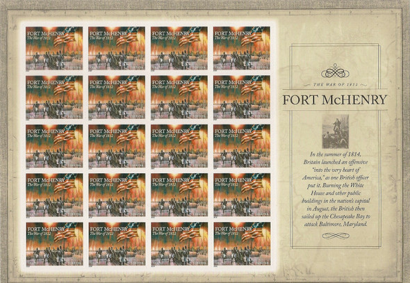 US (2014)- War of 1812- Ft. McHenry Sheet #4921