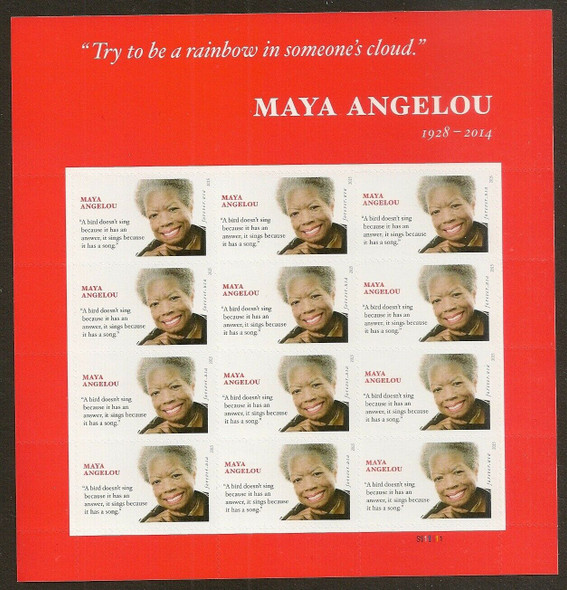 US (2015)- Maya Angelou Sheet of 16v -SC#4979