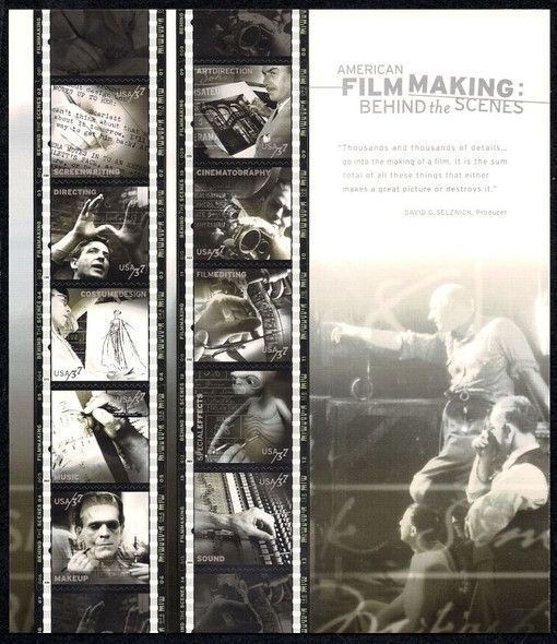 US (2003)- AMERICAN FILM MAKING SHEET OF 10v - #3772