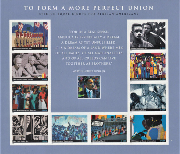 US (2005)- FOR A MORE PERFECT UNION- EQUAL RIGHTS SHEET #3937