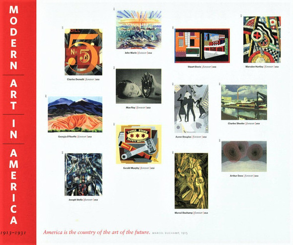 US (2013)- MODERN ART IN AMERICA IMPERFORATED SHEET OF 12v- #4748M