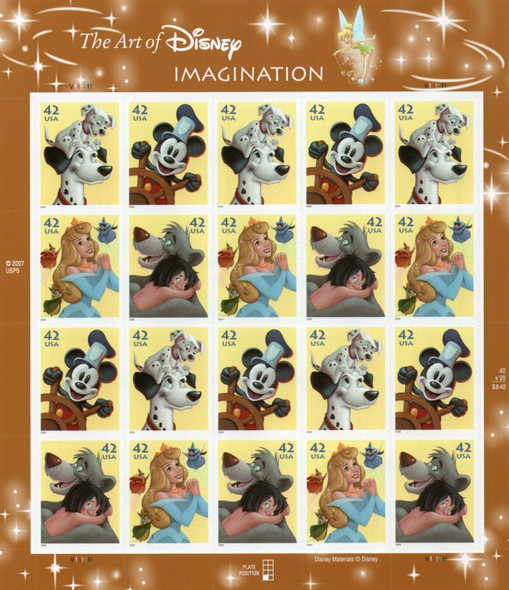 "US (2018)- DISNEY ""IMAGINATION"" SHEET OF 20v- SC#4345A"