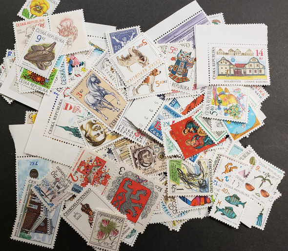 CZECHOSLOVAKIA/CZECH REPUBLIC  1990's2000s LOT Of 150+ Stamps