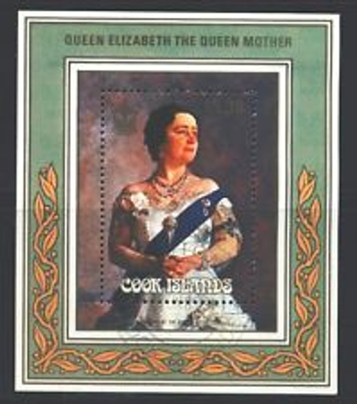 COOK ISLANDS ( 1986) QUEEN ELIZABETH  Birthday Souvenir Sheet