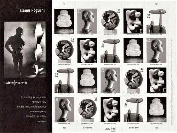 US (2004)- ISAMU NOGUCHI, SCULPTOR- SHEET OF 20v-#3857-61