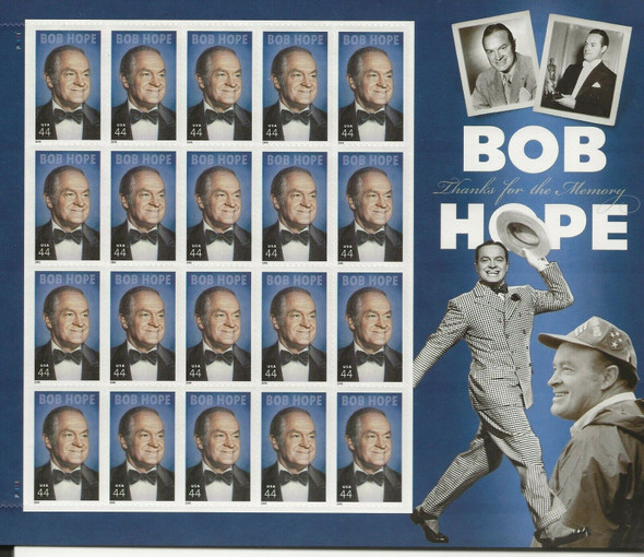 US (2009)-BOB HOPE, COMEDIAN/ACTOR- SHEET OF 20- #4406