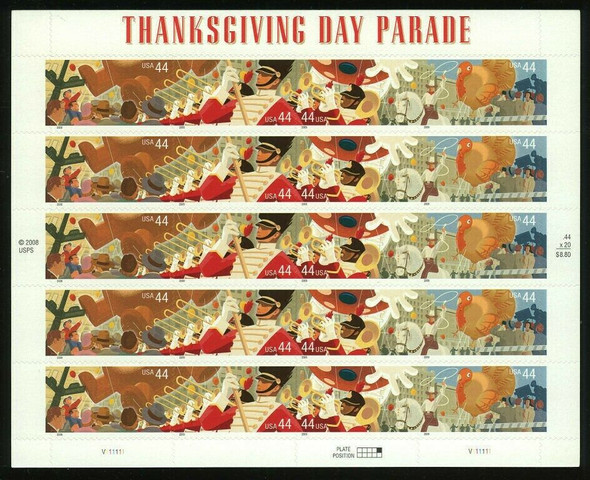 US (2009)- THANKSGIVING DAY PARADE SHEET OF 20- #4420A