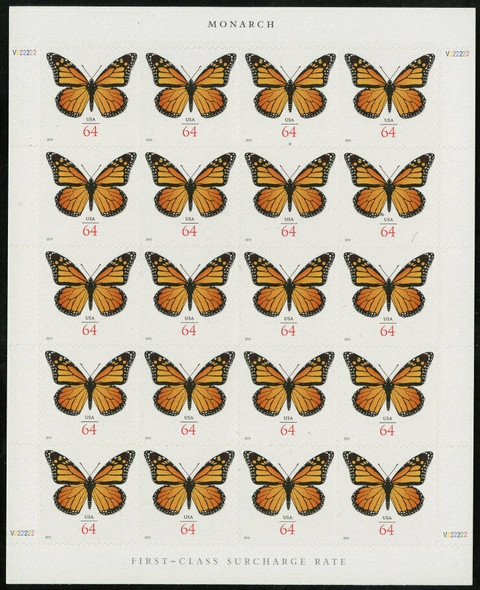 Copy of US (2010)- MONARCH BUTTERFLY SHEET (SURCHARGE RATE) #4462