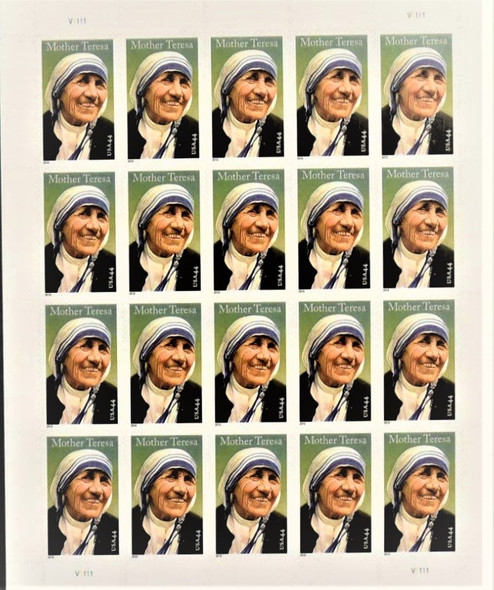 US (2010)- MOTHER TERESA SHEET OF 20- #4475