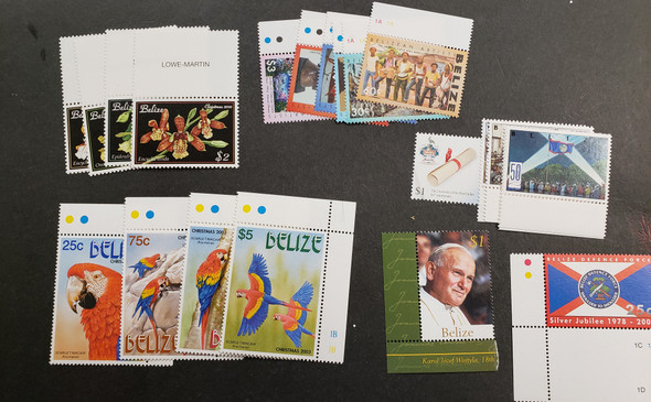 BELIZE LOT , Includes Christmas Parrots and Orchids LAST ONES