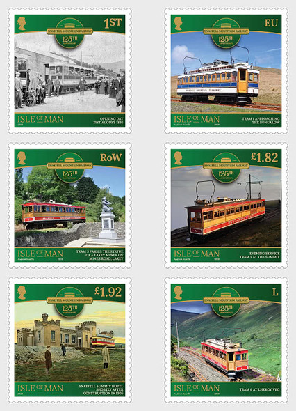 ISLE OF MAN (2020)- Snaefell Mountain Railway - 125th Anniversary (6 stamps)
