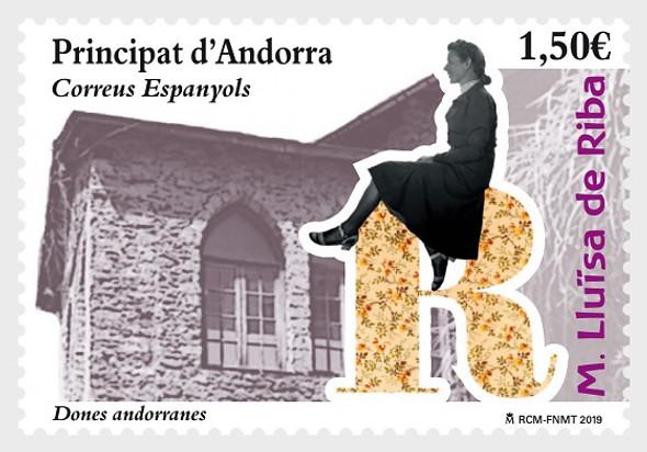 SP. ANDORRA (2020)- Andorran women - Maria LLuïsa de Riba