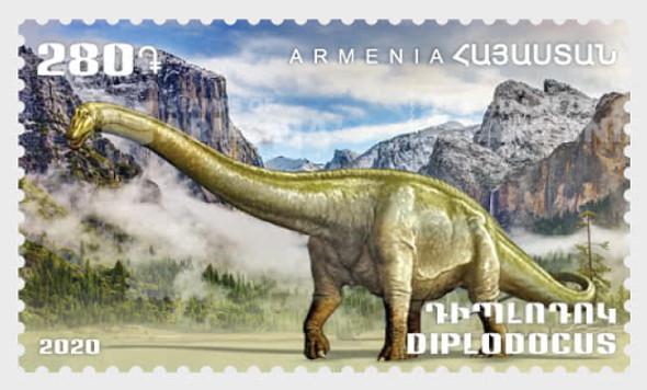 ARMENIA  (2020)- Dinosaur & Prehistoric Sea Life  (2 stamps)