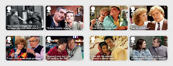 GR. BRITAIN  (2020)- Coronation Street (TV Show) Set of 8 & Sheet