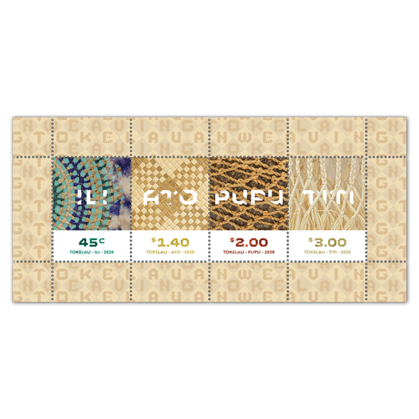 TOKELAU  (2020)- Weaving (Set of 4 stamps & sheet)