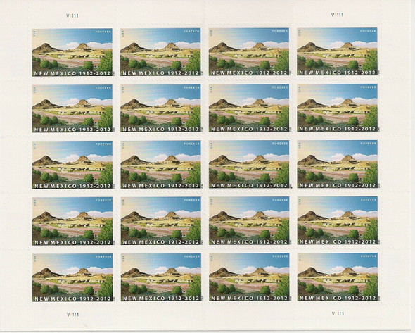 US (2012)-NEW MEXICO #4591 SHEET OF 20 STAMPS