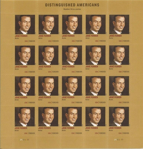 US (2012)- JOSE FERRER (ACTOR) SHEET OF 20- #4666