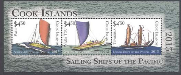 COOK ISLANDS (2013) - Sail Ships of the Pacific- Sheet of 3