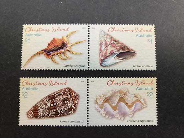CHRISTMAS ISLANDS (2016) SHELLS (4v)