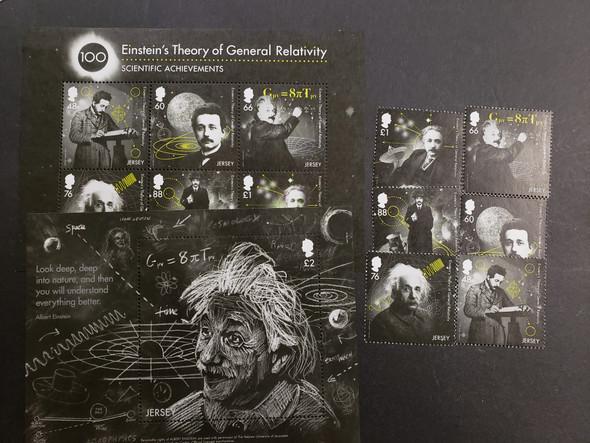 JERSEY Albert Einstein 2 Sheet and Set (6v) LAST ONE