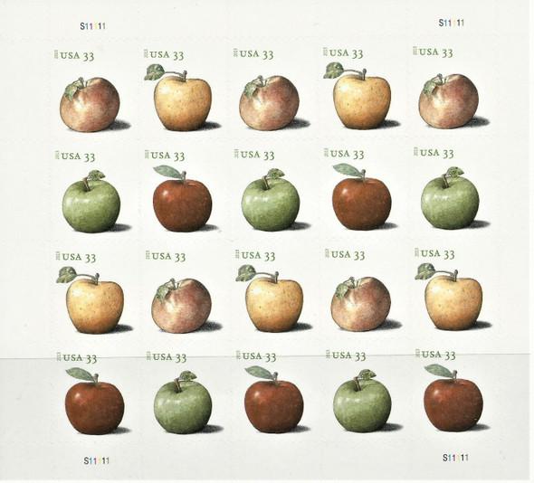 US (2013)- Apples (33c) Sheet of 20 #4727-30