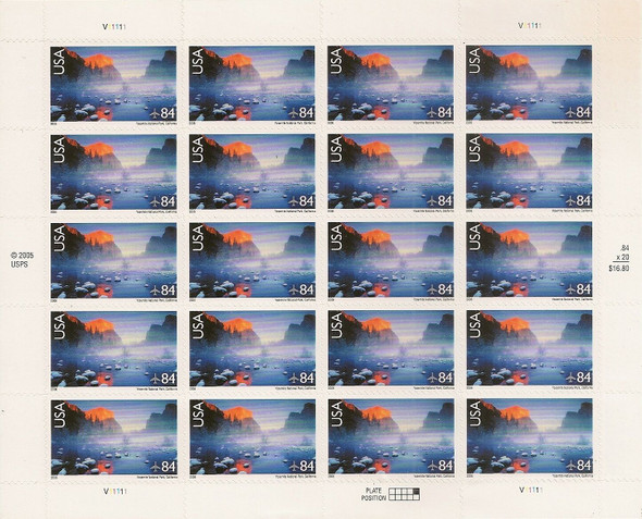 US (2006)- Yosemite National Park (Air Mail) #C141 Sheet of 20