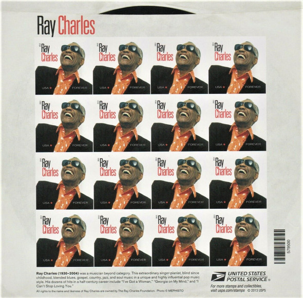 US (2013) Ray Charles (singer) Sheet of 16- #4807a