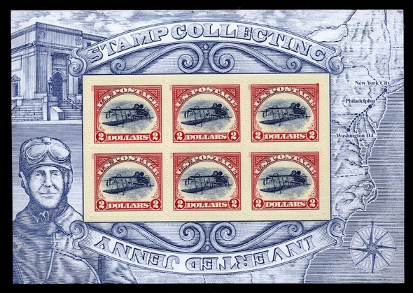 US (2013)  Inverted Jenny Reprints $2 Sheet of 6- #4806