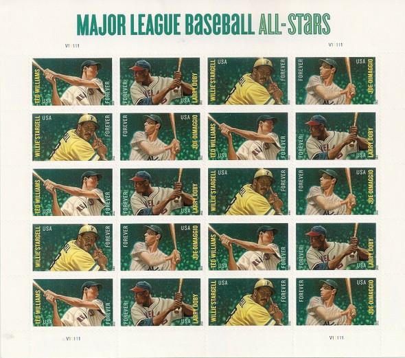 US (2013) #4697b -Major League Baseball All-Stars  Sheet