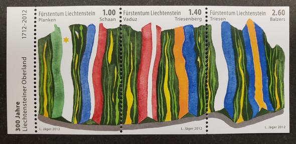 LIECHTENSTEIN (2012) Oberland 300 Anniversary (3v)