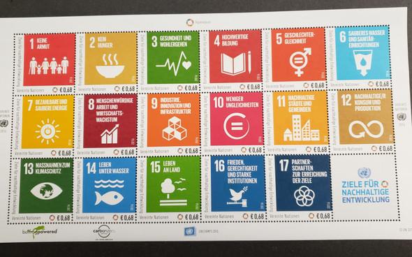 UNITED NATIONS (2016) Sustainable Goals 3 Sheet Set of 17 LAST ONE