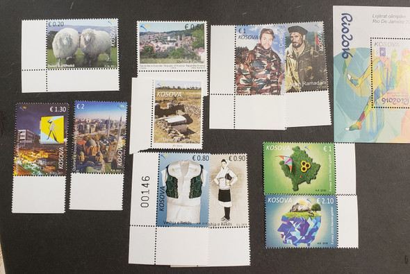 KOSOVO Small Collection Of 2017 Issues, Sets SS Retail $60