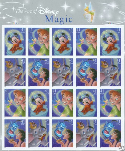 US - DISNEY STAMP SHEET COLLECTION (3)- IMAGINATION/FRIENDSHIP/MAGIC