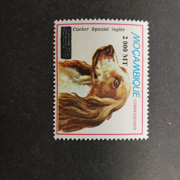 MOZAMBIQUE (1998) SC1295B Overprint Dog , Cocker Spanial (1v)