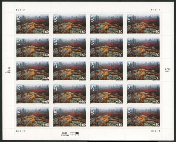 US (2001)- ACADIA NATIONAL PARK (AIR MAIL) SHEET OF 20- #C138