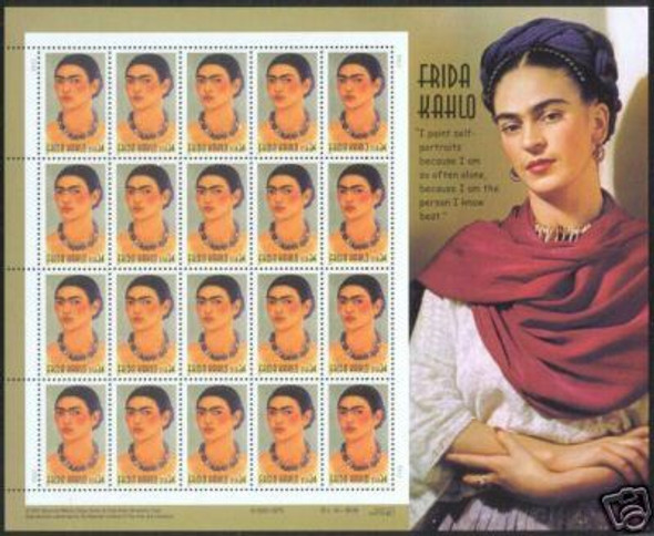 US (2001) Frida Kahlo Sheet of 20- #3509